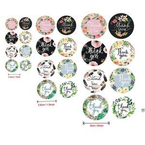 500X Flower Handmade Craft Thank You Labels Envelope Round Stickers Wedding Decoration EWE5922