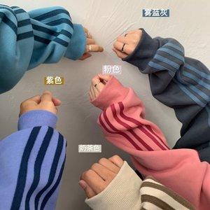 Женские толстовки для толстовки с толстовками QFour бар мода мода мода, плюшевые утолщенные осень зима корейский свободный с капюшоном языка пальто пара Q3FJ