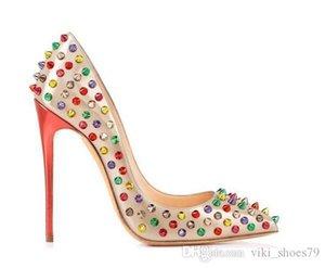 LOUBOUTIN CHRISTIAN newest design girls red bottom  customized women sexy party shoes women pencil high heel dress shoes ladies sli RAU