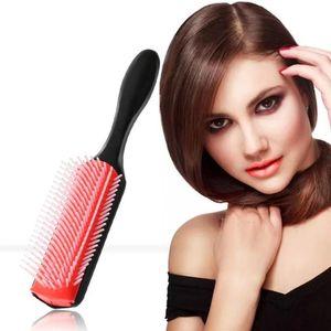 9-Satırlar Detangling Saç Fırçası Denman Detangler Saç Fırçası Saçağı Masaj Düz Kıvırcık Islak Tarak Fırçalar