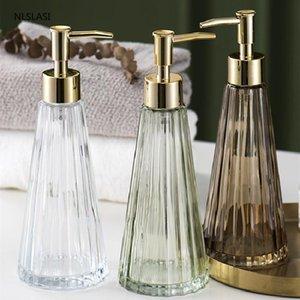 300ml Creative Umbrella Shape Glass Lotion Bottle Bathroom Shampoo Soap Dispenser Pump Liquid Soap Dispenser Pump Home Decor