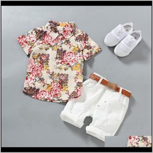 Toddler Boy Clothes Floral Shirts White Shorts 2Pcs Sets Short Sleeve Gentleman Boys Outfits Casual Baby Clothing 2 Designs Opwyh Twz9R