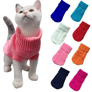 Warm Cat Knitted Sweater For Cats Jumper Puppy Pug Coat Clothes Pullover Shirt Kitten Pet Dog Costumes