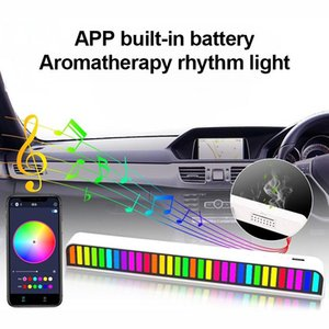 Strips RGB Voice-Activated Pickup Rhythm Ambient Light Sound Control With Music Level Indicator Car Desktop APP