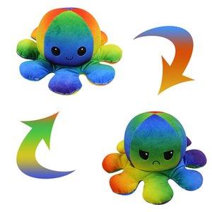 НОВЫЙ!!! Multi Stiles Reversible Flip Octopus Furned мягкий двухсторонний экспрессию плюшевые игрушки Антистресс настольные подарочные куклы партия день рождения подарок маленький животных поставок