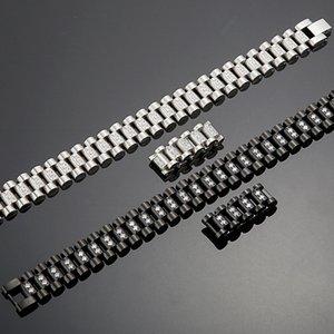 Accessory Watch Men Bracelet Link Jewelry 16MM Jewellery Chain Wide For Steel Bracelet Stainless Male Bangle Strap CZ Wholesale Bfmbk