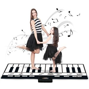 180x72cm 24 Keys Multifunction Musical Piano Mat Keyboard Baby Play Mat Rug Musical Instrumnets Educational Toys for Kids Gifts 210401