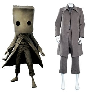 Little Nightmares Mono Cosplay Costume Coat Outfits Halloween Carnival Suit