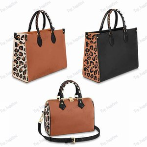 Latest Styles top quality Wild at Heart series Onthego tote bags designers handbags Cow leather embossed leopard print mommy bag