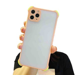 Clear Hard PC Soft TPU Bumper Cases For iPhone 12 Mini Anti-Scratch Shockproof Slim Thin Protective XS Max 11 Pro XR phone Cover