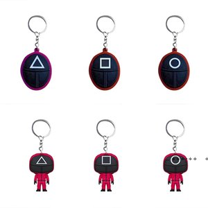 Party Favor TV Squid Game Keychain Popular Toy Anime Surrounding Wooden People Pontang Acrylic Keychains LLA9213