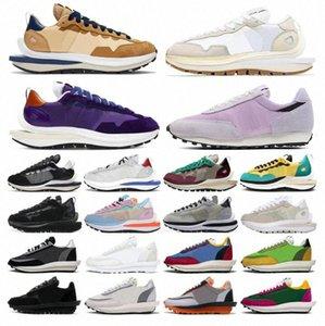 Top Sacai Vaporwaffle men women shoes ldv ld waffle Black White Nylon LDWaffle Pine Green Pigeon Gusto outdoor womens mens trainers spoJCoF#