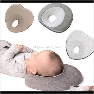 Pillows Shaping Baby Nursing Anti Roll Memory Foam Pillow Prevent Flat Head Neck Support Born Sleeping Cushion Lj200811 Pbwcf Tbuep