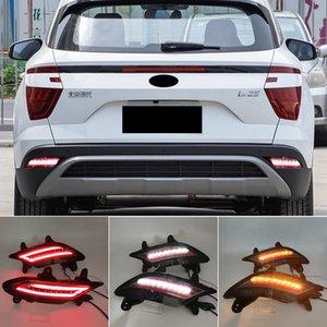 2PCS Led Reflector driving lights For Hyundai Creta IX25 2020 2021 Brake Lights rear bumper lamp Turning Signal lamp