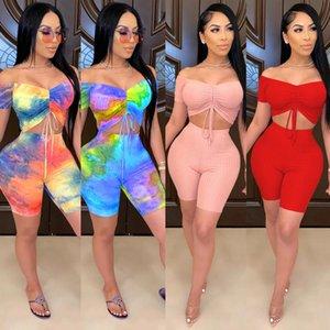 Moda Sexy Wrap Chest Two-Piece Set One-Word Ombro Menina Outfits Mulheres Calças, Melhores Itens Bulk Atacado Lotes Scrubs Jogadores Mulheres Mulheres P