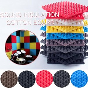 12Pcs 30x30x5cm Studio Acoustic Foams Panels Sound Insulation Treatment KTV Drun Room Wall Soundproof Foam Sponge Pad 2021 Wallpapers