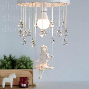 Modern art angel chandelier led lamps Nordic creative living room bedroom led chandelier E27 led lustre light chandeliers