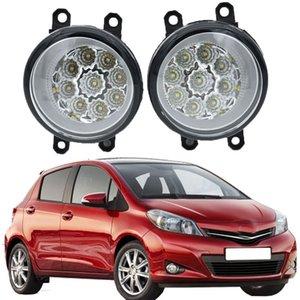 Luzes de nevoeiro LED para Toyota Yaris Hatchback SCP9 NSP9 KSP9 NCP9 ZSP9 2006-2014 Lâmpada de névoa Super brilhante nevoeiro