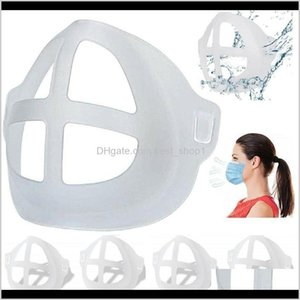 Masques de partis Masque 3D Support de masque réutilisable Protection de rouge à lèvres Stand support intérieur Nez Augmenter le support de couverture de la bouche respiratoire