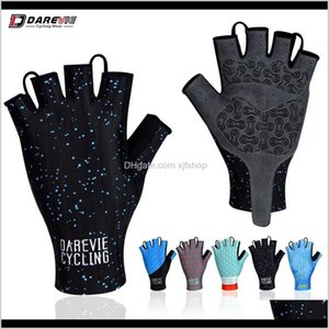 Wholesale Pro Light Soft Breathable Cool Dry Half Finger Cycling Glove Anti Slip Shockproof Bike Gloves Mtb Road Pi69A Yndz9