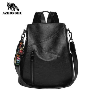 Backpack Women New Wave Anti-Theft Travel Bag Korean Version Of The Wild Fashion Large Capacity Soft Leather Women's Backpack LJ200128
