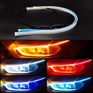 Car Led DRL Daytime Running Lights Turn Signal DRL Led Strip Car Light Accessories Brake Side Lights Headlights For Auto