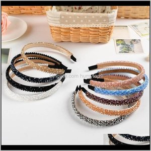 Yoga Bands Bling Curly Four Rows Rhinestone Headbands Bandeau Crystal Inlay Hair Band Hoop Head Wear Women Fashion Girls Ladies 4 5Bt Fwlth