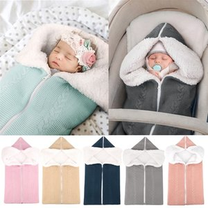 Thickening Warm Sleeping Bag Wool Knitting Plush Multi Function Outdoors Garden Cart Baby Blanket Newborn Cotton Stroller Footmuff 37yc M2
