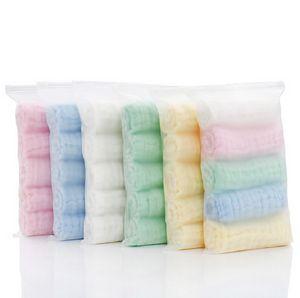 5pcs Set Muslin 6 layers Cotton Soft Baby Towels Face Towel Handkerchief Bathing Feeding Face Washcloth Wipe burp cloths Stuff