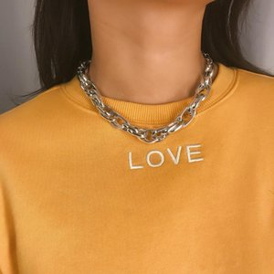 Personality Hip-hop Punk Thick Chain Multi-ring Trend Item Creative Twist Necklace Women's Jewelry Chains