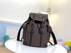 Мода верхнего высокого качества кожаные сумки для плеча мужчин и женщин рюкзак 41..47..13см