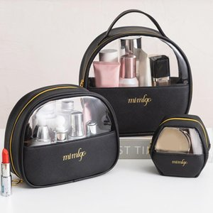 Storage Bags 1 Pc Fashion Women Cosmetic Bag Travel Clear Makeup Solid Color Female Mini Lipstick Necessaries Wash