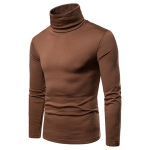 sweater pullover mens sweater Large size thick warm high neck long sleeve Tshirt base shirt 6 colors Shirt Luxury men sweater