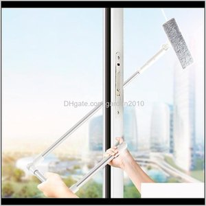 Brushes Window Cleaner Glass Cleaning Brush Tool With 180 Squeegee Head Extension Pole Microfiber Cloth For Indoor And Outdoor Windows 1Ldxa