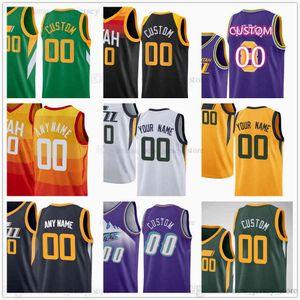 Custom Printed Basketball Jerseys 45 Donovan 10 Mike Mitchell Conley 44 Bojan Bogdanovic Clarkson Joe Ingles Rudy Gobert Royce O'Neale Derrick Favors Trent Forrest