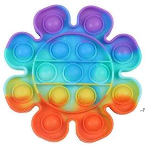 2021 Children's Desktop Puzzle Push Pop It Fidget Toys Simple Dimple Silicone Finger Bubble Sensory Toys Board Game Stress Relief AHD65