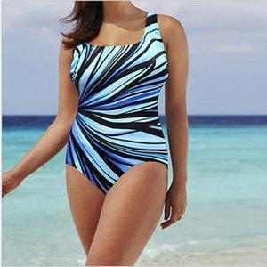 one-piece Hot 3 Sale Plus Color size L-5XL Womens Swimming Costume Padded Stripes Swimsuit Monokini Swimwear S