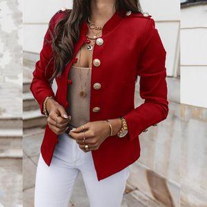 Spring Fashion Long Sleeve Solid Suits Red Blazers Coat Khaki Office Lady Slim Jacket Warm Short Year Clothing Women's &