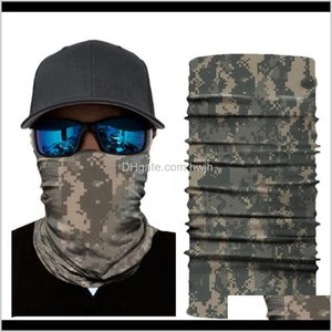 Cycling Caps Masks Army Scarves Polyester Windproof Neck Warmer Anti Uv Tactical Camouflage Face Mask Bandana Hiking Gear3 Uhbj3 Pa21N