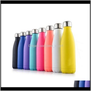 Double Walled Insulated Bottle Cup Cola Shape Stainless Steel 500Ml Sport Flasks Thermoses Travel P4Zib 6Jyte