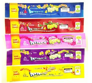 ropes 400 420 500 800 600mg candy Mylar Bags Empty edible Packaging Gummy Three edge-sealing bag foil Food package DHL
