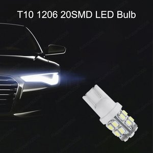 50Pcs LED Car Bulbs White T10 W5W 1206 20SMD Bulb For 168 194 2825 Clearance Lamps Reading Trunk License Plate Lights 12V