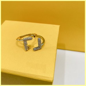 Women Luxurys Designer Rings Diamond F Ring Engagements For Womens Love Ring Designers Jewelry Buzatue Mens Gold Ring Wholesale 21080505R