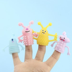 Novelty Games Cross-border kaws TPR soft glue luminous small set toys monster Animals doll tell stories props dual-point mini finger gift