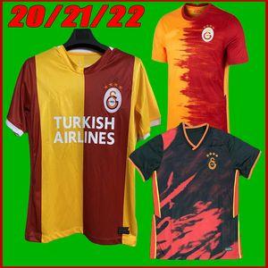 2021 Galatasaray Futebol Jerseys 21 22 Gomis Linnes Cigerci Belhanda Fernando FeGhouli Donk Home Away Camisas de futebol