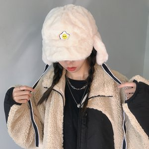 Tushu   versatile ~ cashmere Lei Feng autumn winter warm ear protection flying purse egg embroidered hat