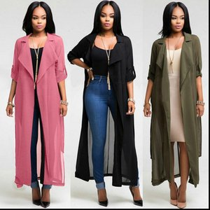 Womens Blouses Fashion Women Long Chiffon Cotton Cape Coat Jacket Suit Shawl Plus Cloak Female Loose Cardigans Outwear