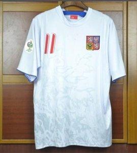 04 06 Czech Retro Soccer Jerseys Home Away Pavel Nedved Champions Hommes Football Chemises 2004 2006 Czech Vintage Vintage Uniformes Kit Camiseta