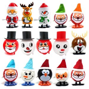 Electronic Pets Wind-up and winding walking Santa Claus Elk Penguin Snowman Clockwork Toy Christmas Gift Moving Santas Christmass Child Gifts Toys