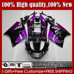 Body Kit For KAWASAKI NINJA ZX11R ZZR 1100 purple black ZX-11 R ZZR1100 ZX11 R ZX 11 R 11R 31HC.119 ZX-11R 1990 1991 1992 1993 1994 1995 ZZR-1100 96 97 98 99 00 01 OEM Fairings